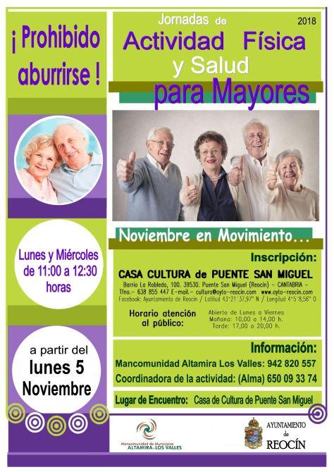 Cartel - Jornadas de actividad fisica y salud para mayores