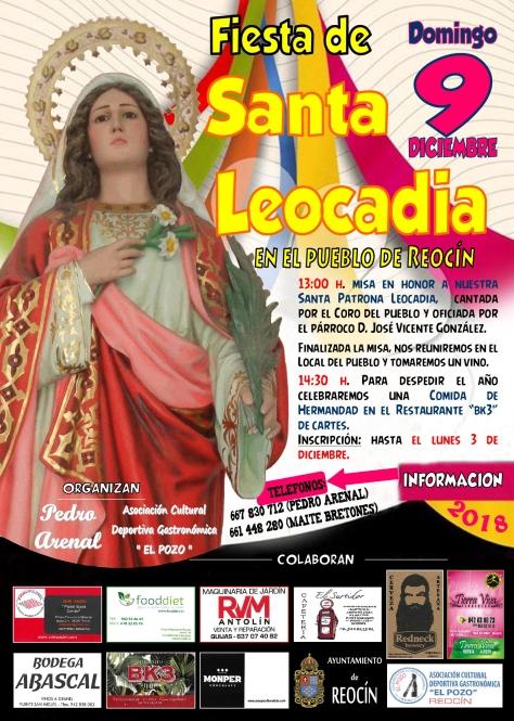cartel santa leocadia 2018
