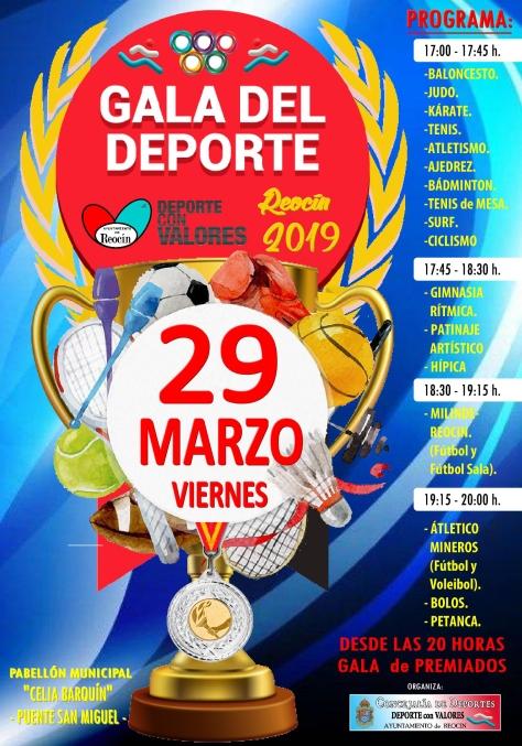 nuevo cartel gala del deporte en reocinCON HORARIOS