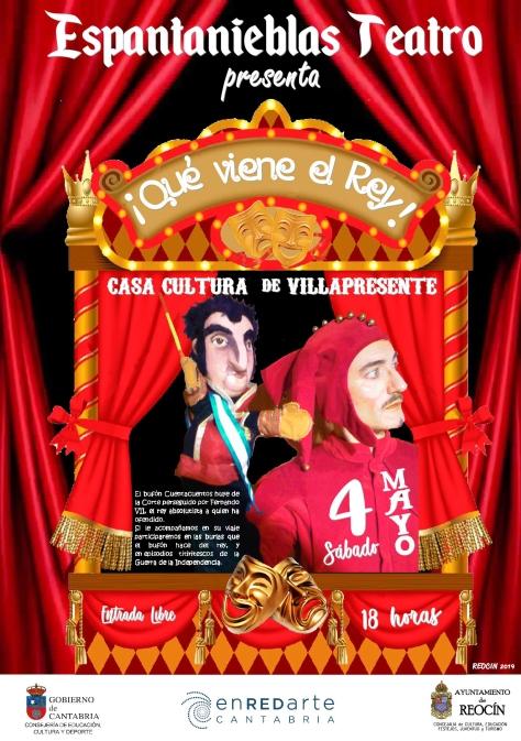 CARTEL 1 QUE VIENE EL REY