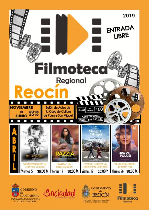 CARTEL FILMOTECA REOCIN ABRIL 2019