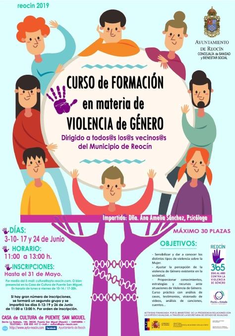 cartel curso de formacion en materia de violencia de genero junio 2019