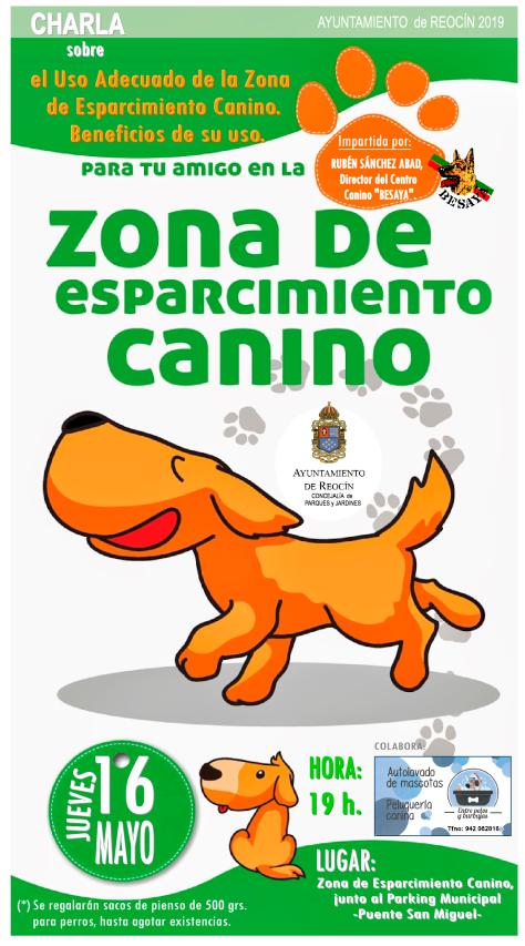 CHARLA- ZONA ESPARCIMIENTO CANINO 16 MAYO