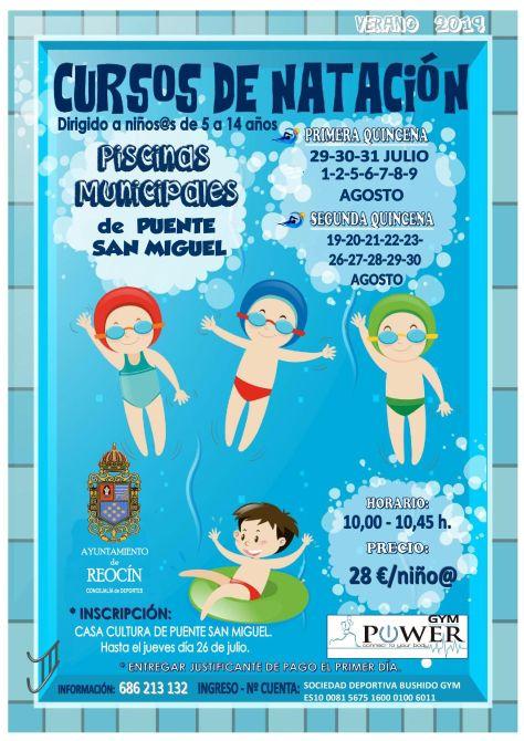 cartel curso piscinas 2019 PUENTE SAN MIGUEL
