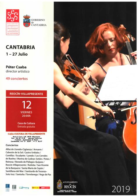 CARTEL ENCUENTRO DE MUSICA 2019 EN REOCIN 12 JULIO