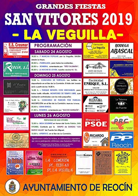 CARTEL FIESTAS DE SAN VITORES 2019