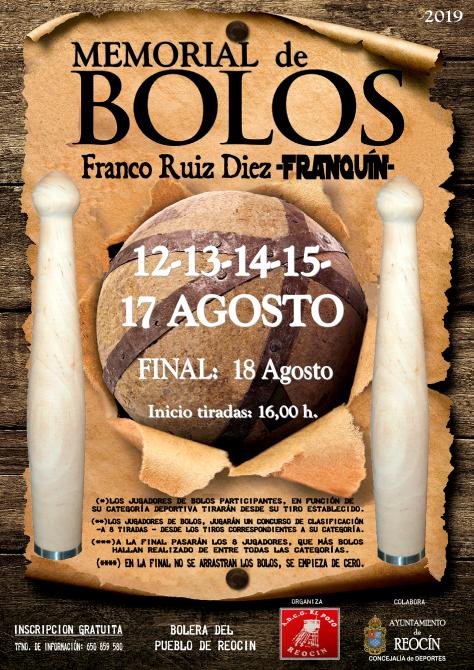 cartel prueba bolos memorial franquin