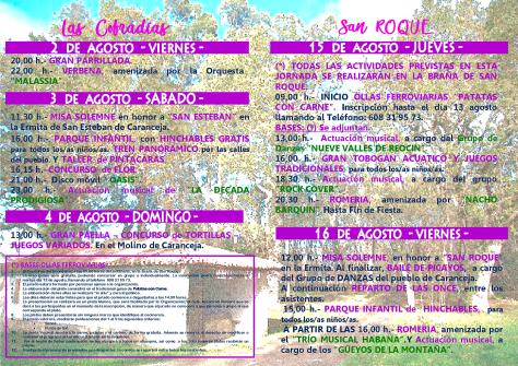 folleto programa fiestas caranceja 20192