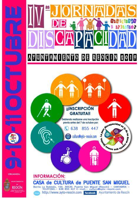 CARTEL 4 JORNADAS DE DISCAPACIDAD 2019