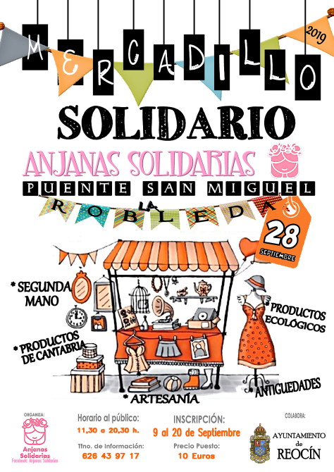 CARTEL MERCADILLO FINAL DE ANJANAS SOLIDARIAS 2019