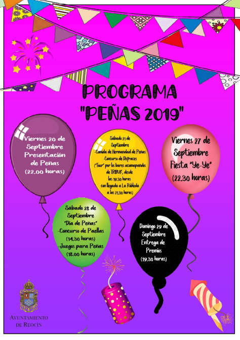 CARTEL PROGRAMA PEÑAS 2019