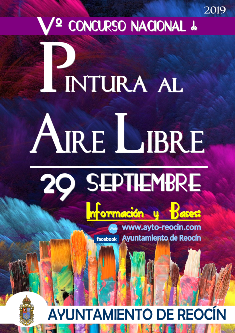 cartel Vº CONCURSONACIONAL DE PINTURAAL AIRE LIBRE 2019-1