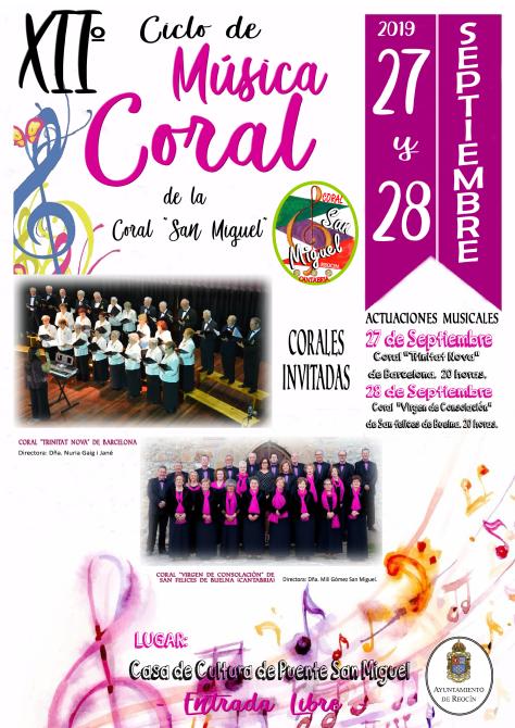 CARTEL XIIº CICLO CORAL SAN MIGUEL 2019
