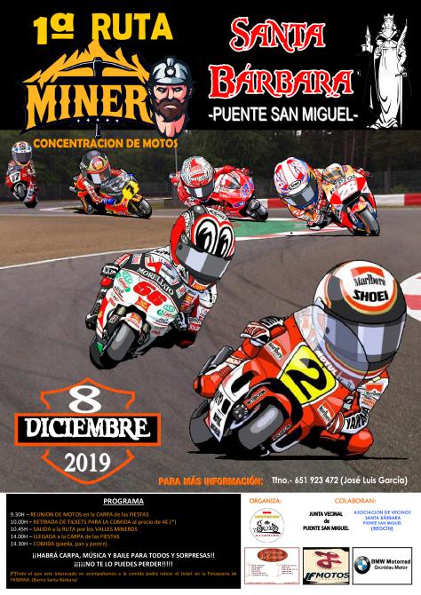 cartel 1ªruta mineros 8 diciembre19 santa barbara