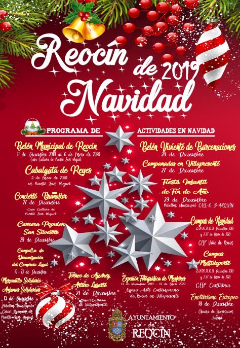 cartel actividades navideñas reocin 2019