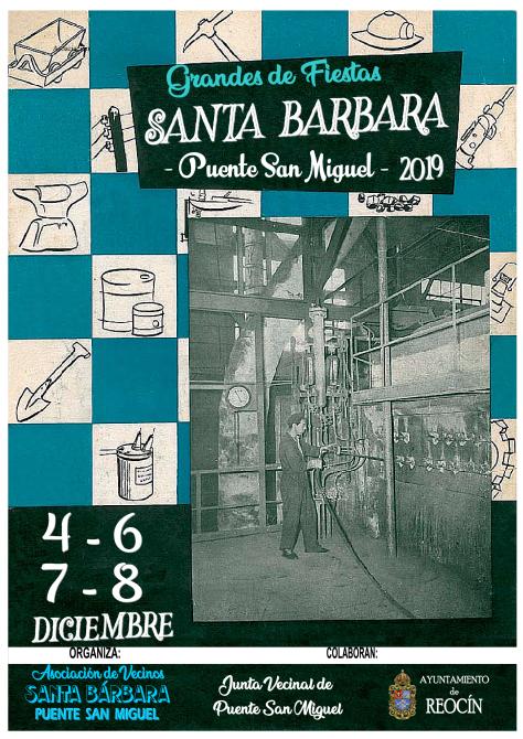 portada principal folleto fiestas de santa barbara 2019