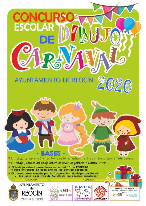 CARTEL CONCURSO DE DIBUJO CARTEL CARNAVAL 2021