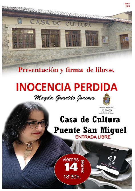 cartel libro inocencia perdida 14 febrero 2020