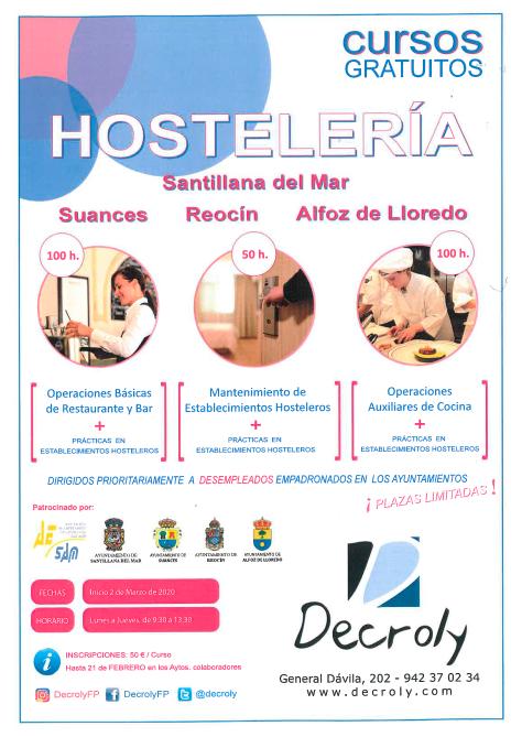 cursos de hosteleria 2020