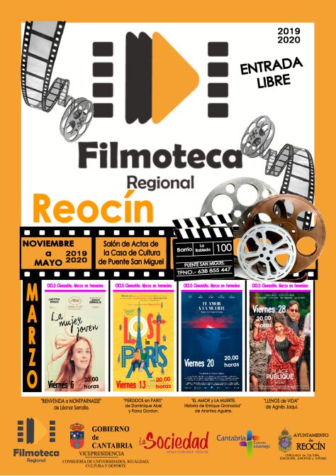 CARTEL FILMOTECA REOCIN MARZO2020