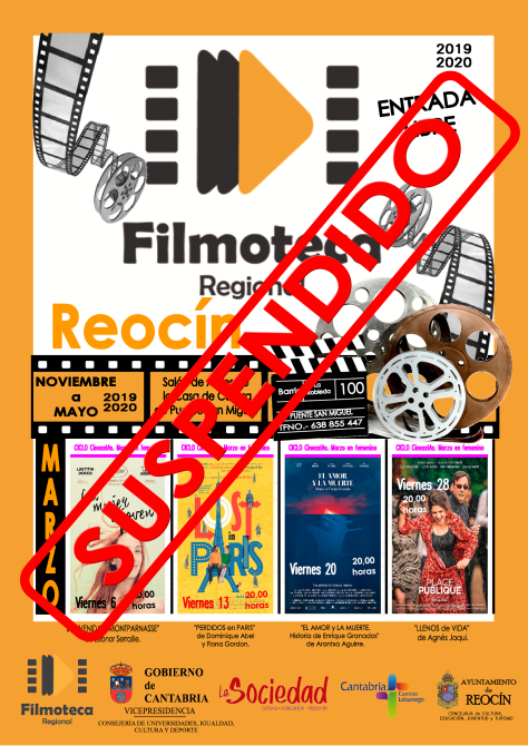 CARTEL SUSPENSION DE LA FILMOTECA 11 MARZO2020